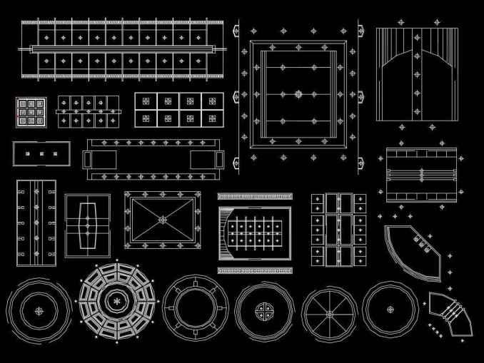 500 Types of Ceiling Design CAD Blocks