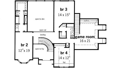 New House Plan Hdc 4300 2 Is An Easy To Build Affordable 4 Bed | Round Staircase House Plans | Beautiful | Small House | Exterior | Dimension | Stair Outside