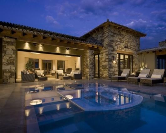 modern spanish house rear exterior interiors