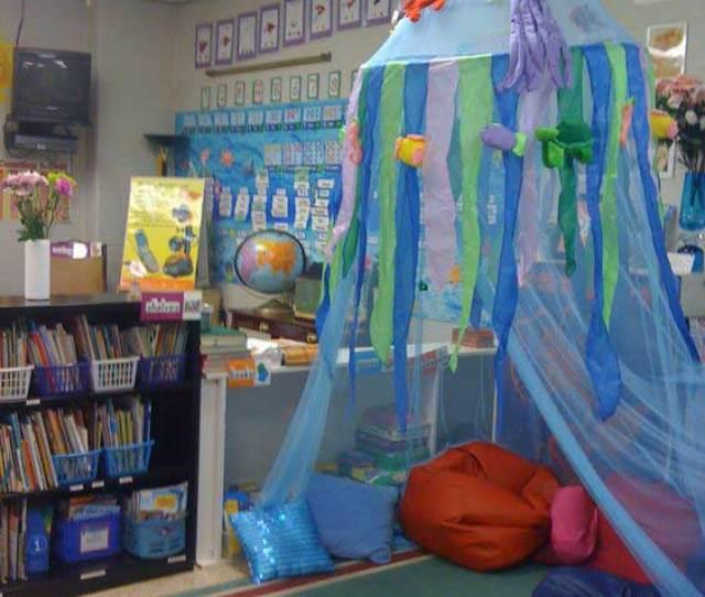 Kids Reading Corner Looks Like Its Under The Sea