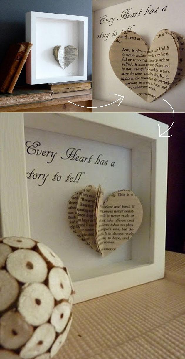 Book Heart Art