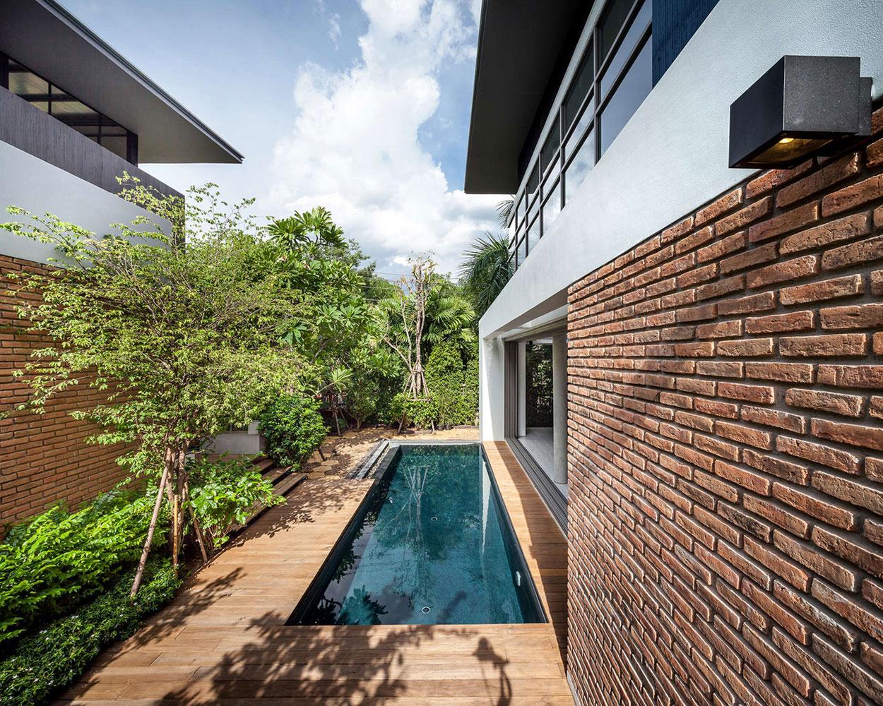 an open plan modern industrial house