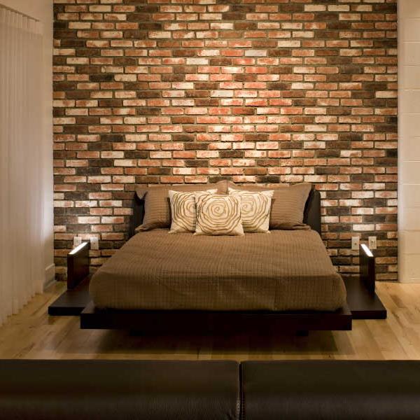 Wall Behind The Bed Brick Headboard