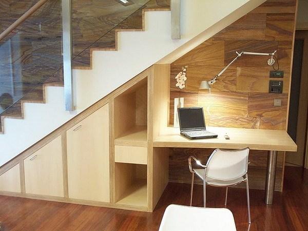 Desk Under Stairs Design Ideas Office Under Staircase | Space Under Staircase Design | Indoor | Clever | Innovative | Wooden | Understairs