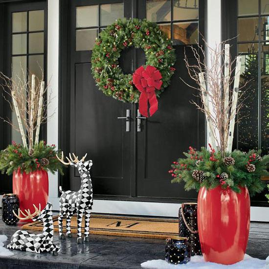 Grandin Road Double Door Wreath