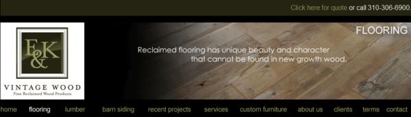 Reclaimed Vintage Flooring