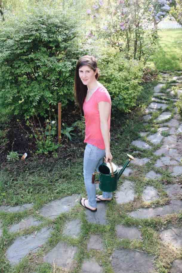 Patio Garden with Flagstone | Home for the Harvest Blog