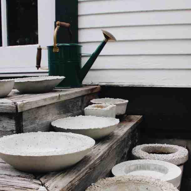 Concrete Succulent Bowls | Home for the Harvest