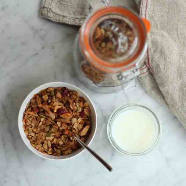 Homemade Granola With Milk | Home for the Harvest