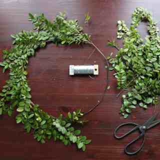 How to Make a Fresh Boxwood Wreath for Christmas | Home for the Harvest