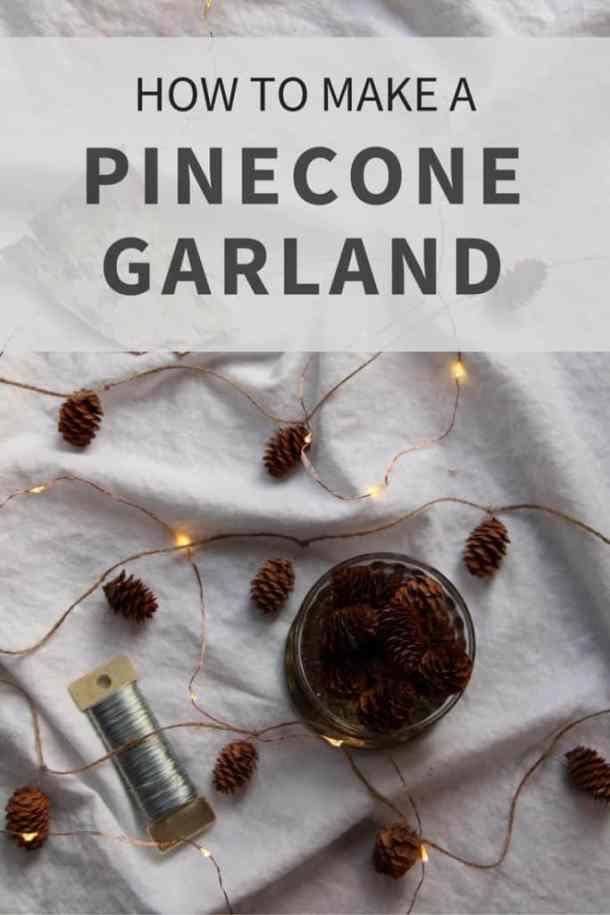 How to Make a Pinecone Garland | Home for the Harvest | www.homefortheharvest.com