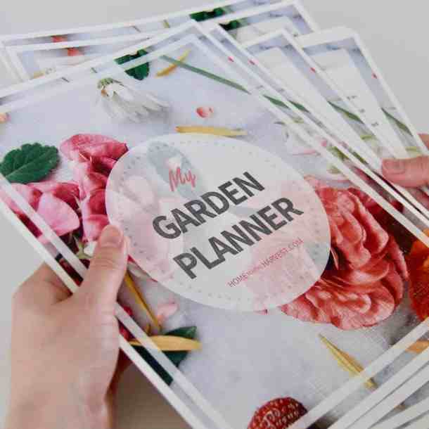 printable garden planner for a last minute gardening gift