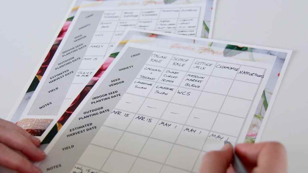 Create a Planting Calendar: How to Make an Easy Garden Schedule