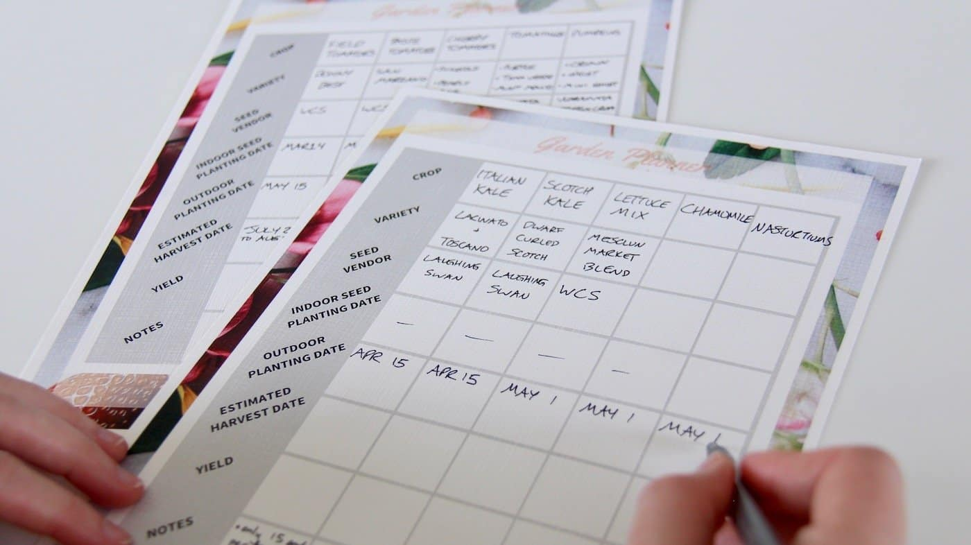 Free Garden Planner Printable - Includes Crop Selection, Garden Layout Mapping, and Making a Planting Schedule | Home for the Harvest