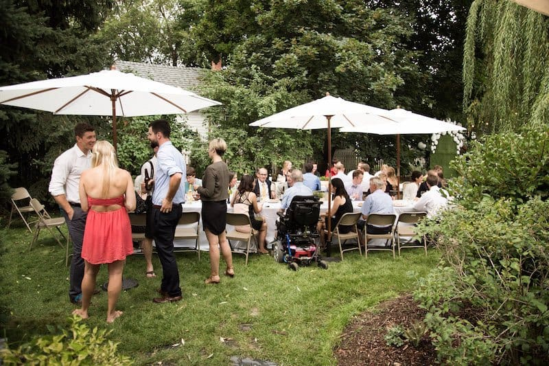 Garden Party Meal Seating | Home for the Harvest - by Lightwell Photo