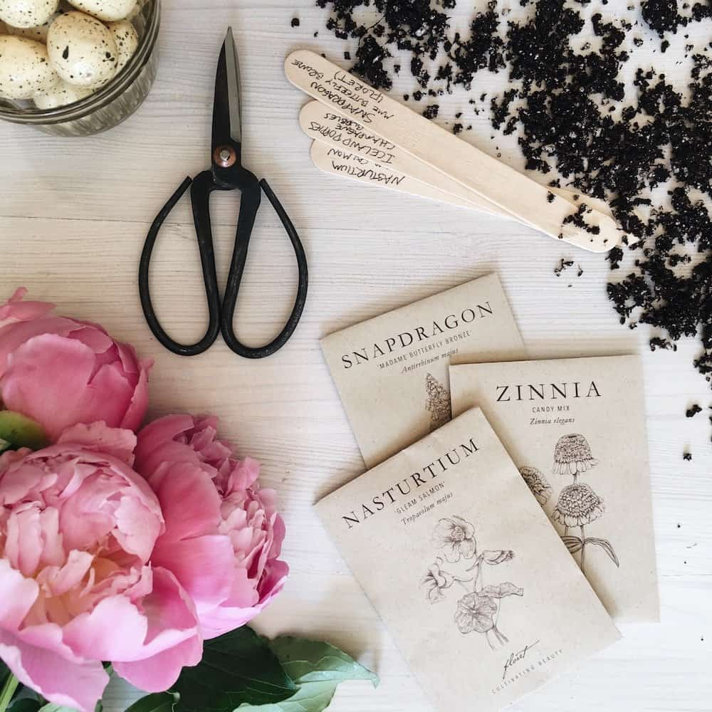 Floral Scissors   Gardening Presents   Home For The Harvest