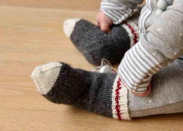 Lumberjack Baby Work Socks Knitting Baby Socks For A Little Monkey