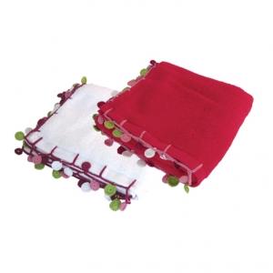 Multicoloured pom pom towels