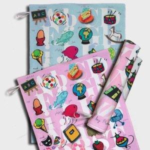 Alphabet tea towels by Rosablue