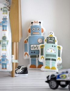 Interior design trend robot home accessories