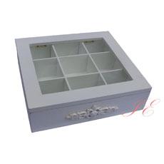 Gisela Graham antique white compartment box