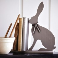 Carol Ridler wood hare bookend