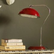 Traditional red pharmacy home desk lamp