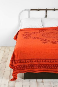 Darjeeling tangerine orange tapestry throw