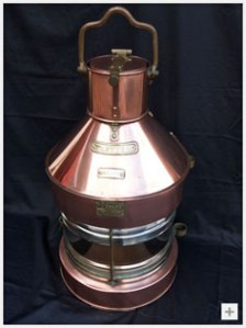 Vintage Copper Ships Lantern from Go Antique