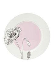 Elle designer soft garden poppy dinner plate