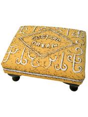 Custard Cream biscuit foot stool