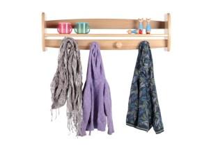 Coat rack storage for children's room