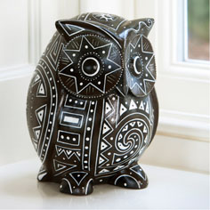 Decorative home accessories: Fair trade wise wooden owl
