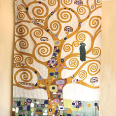 Klimt tree of life handmade rug