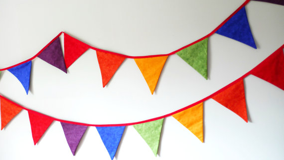 Brighten up your student room with bunting