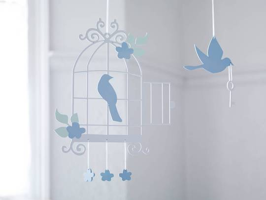 Bird cage design mobile