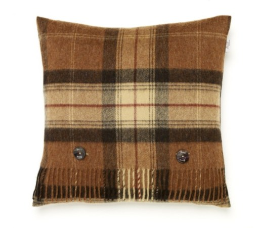 Soft and cosy check cushion