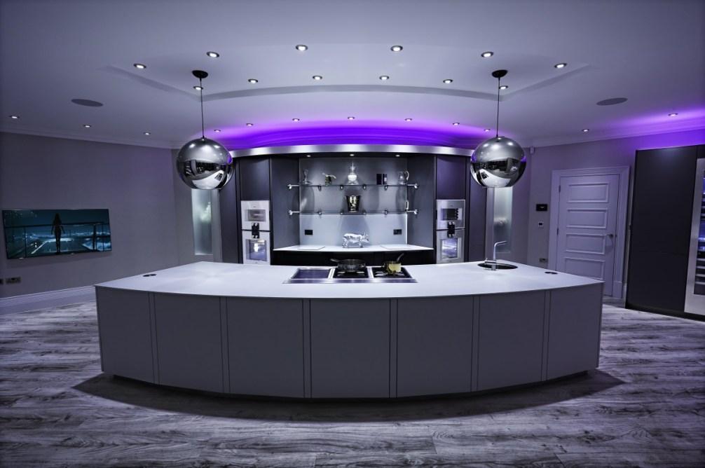 Amazing futuristic kitchen design by Cream and Browne interior designers