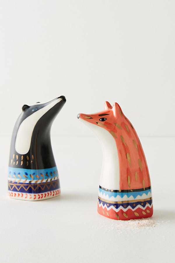 Forest dweller salt and pepper shakers made by Little Birdy