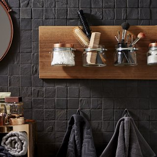 Feeling creative? Why not have a go at making your own bathroom rack organiser