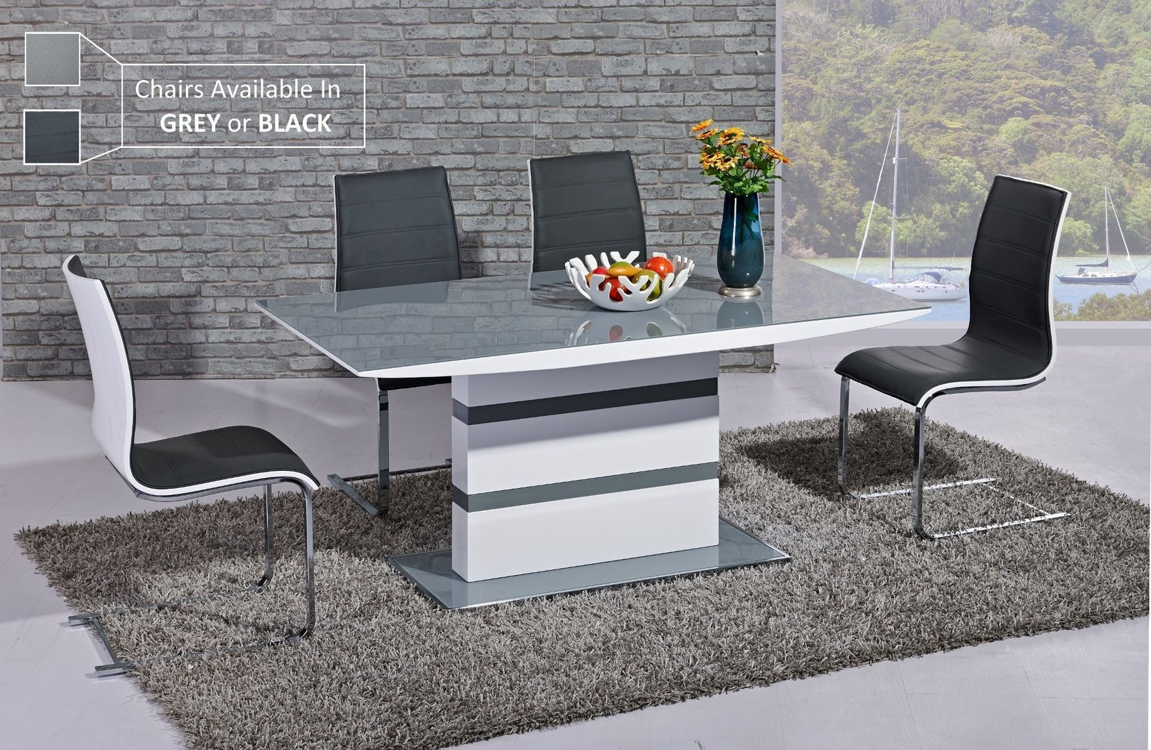 d8830fb5c6f High Dining Table With Chairs. chaffee white high gloss dining table ...