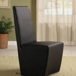 Black White Faux Leather Dining Room Chairs Homegenies