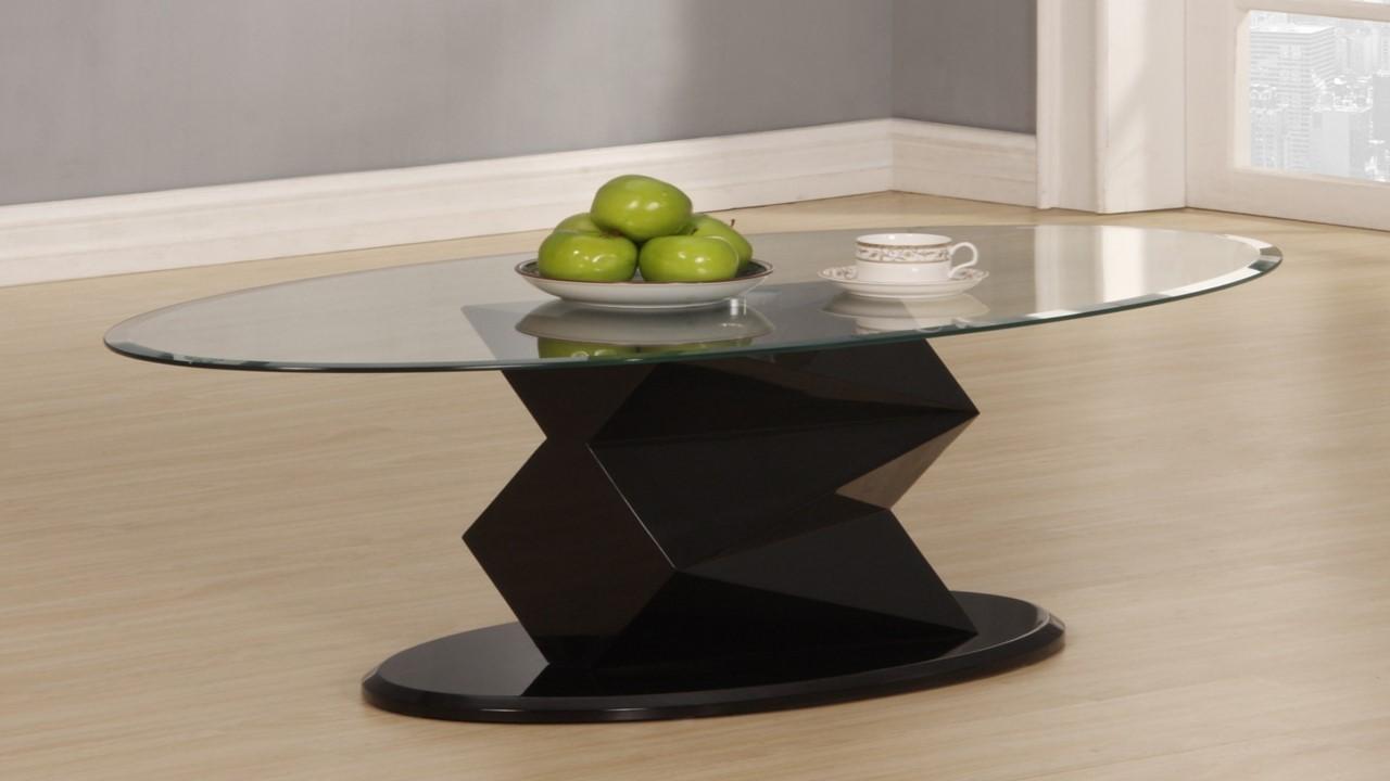 Black High Gloss Glass Side Lamp Table Homegenies