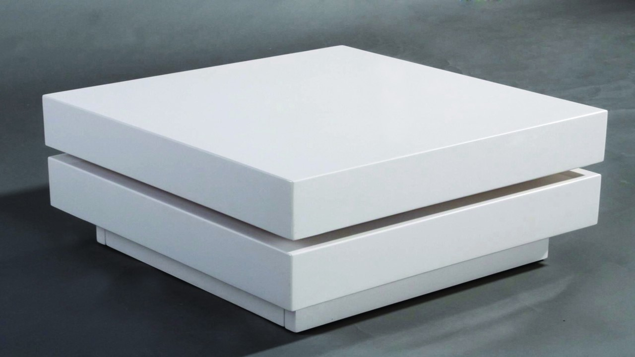 square white high gloss coffee table
