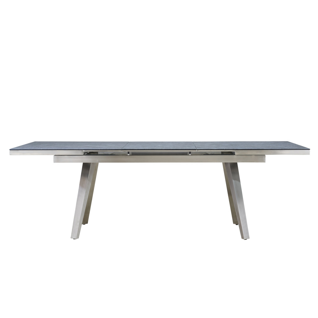 Grey Textured Glass Dining Table Amp 6 Tan Shape Chairs