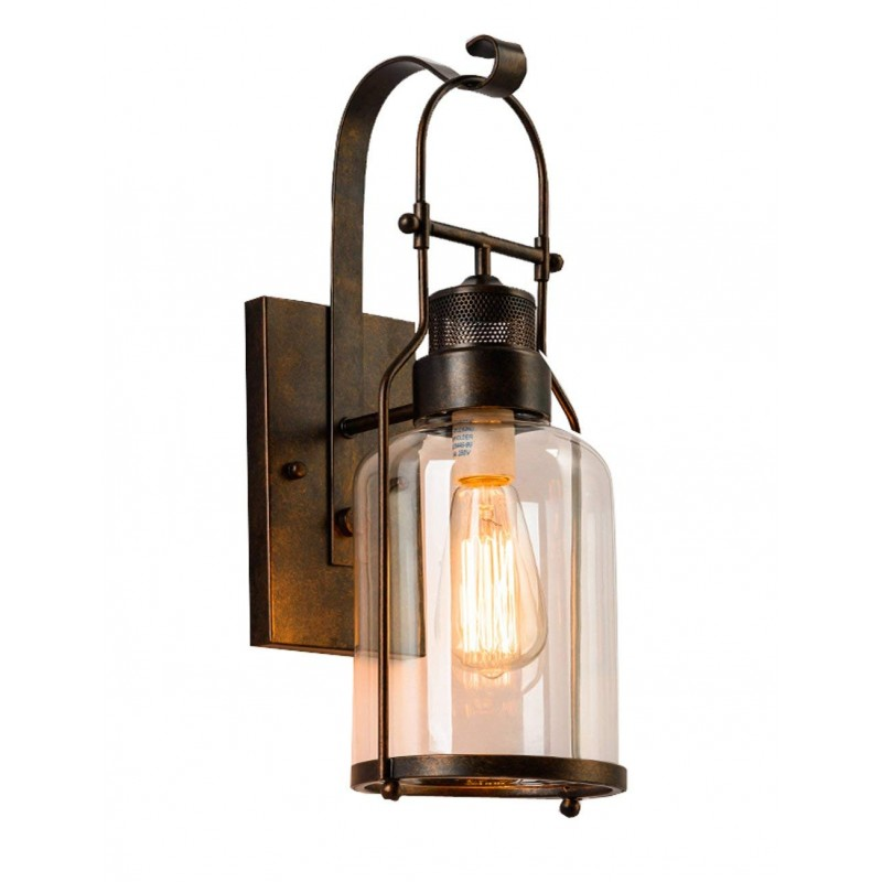 lampe de mur rural chambre couloir chevet en verre creative bar de style retro eclairage industriel classe energetique a