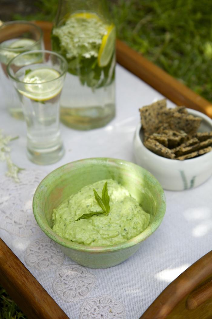 Creamy Green Pea & Avocado Dip | HOMEGROWN KITCHEN