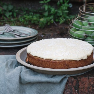 FEIJOA CAKE with Lemon & Macadamia Icing