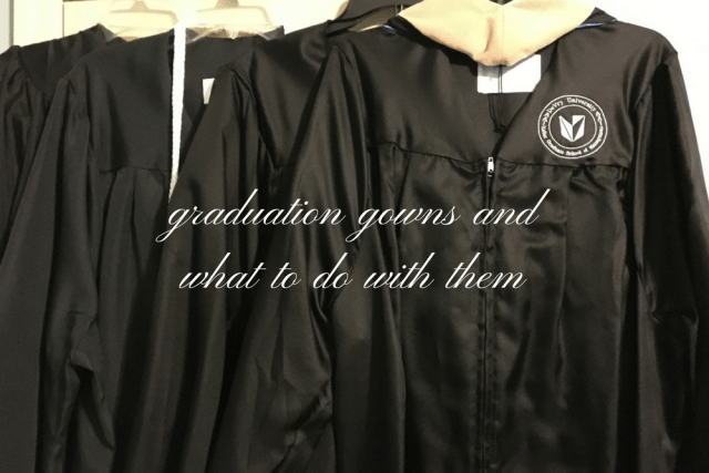 Graduation Gowns: Recycle or Donate