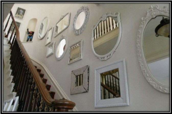 mirrors of different shapes and sizes